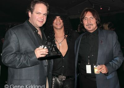 Eddie Trunk, Slash & Geezer Butler at the 2011