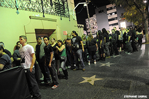 Fans Waiting to attend the Avalon Hollywood Gala 2014